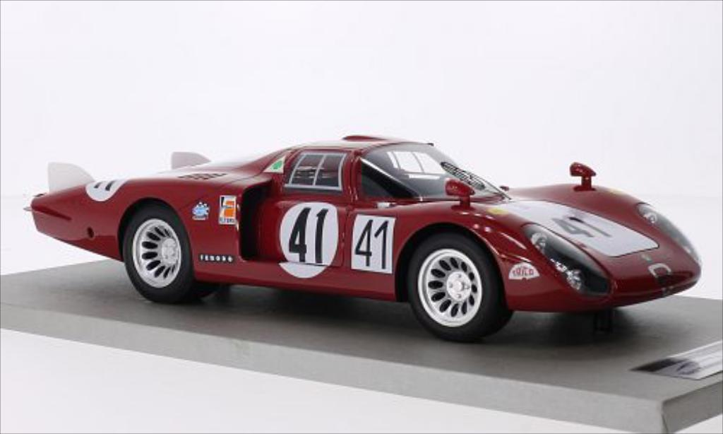 Alfa Romeo 33.2 1/18 Tecnomodel Coda Lunga No.41 Autodelta 24h Le Mans 1968 /N.Vaccarella miniature