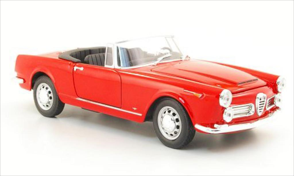Alfa Romeo Spider 1/24 Welly 2600 red 1960 diecast