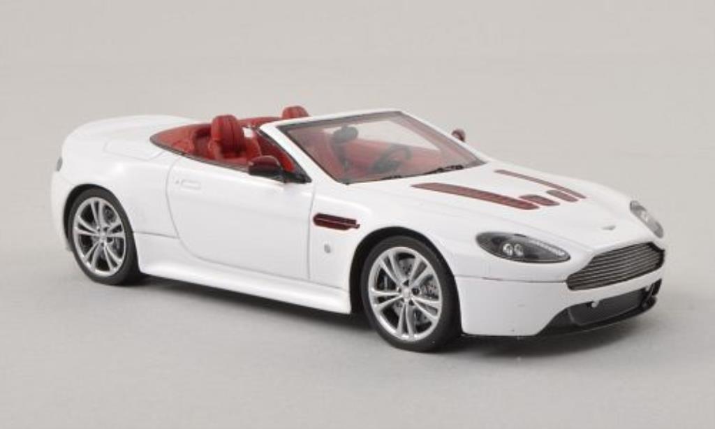 Aston Martin V12 Roadster 1/43 Spark Vantage white LHD 2012 diecast model cars