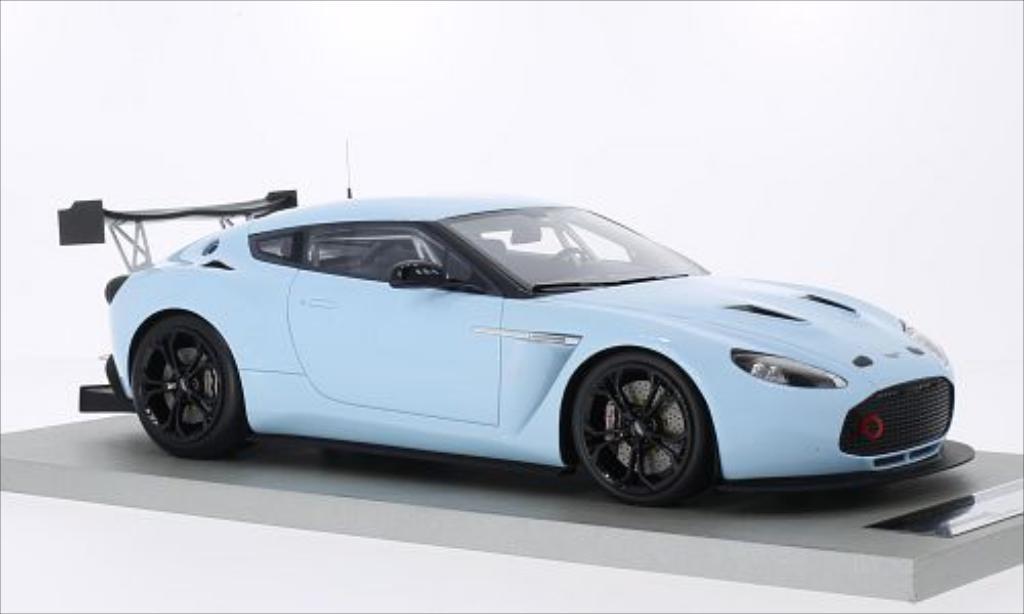 Aston Martin V12 Zagato 1/18 Tecnomodel Race Presseversion bleu miniature