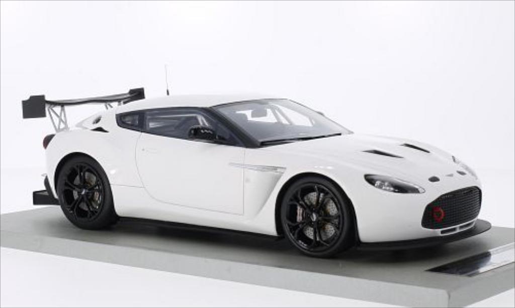 Aston Martin V12 Zagato 1/18 Tecnomodel Race Presseversion blanche miniature