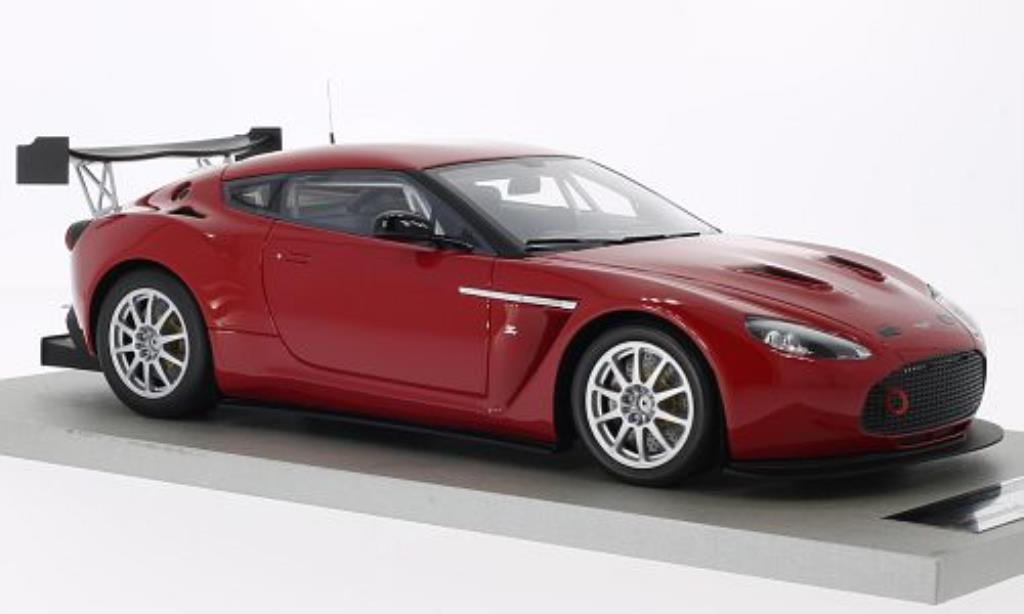 Aston Martin V12 Zagato 1/18 Tecnomodel Test Version rouge 2011 miniature
