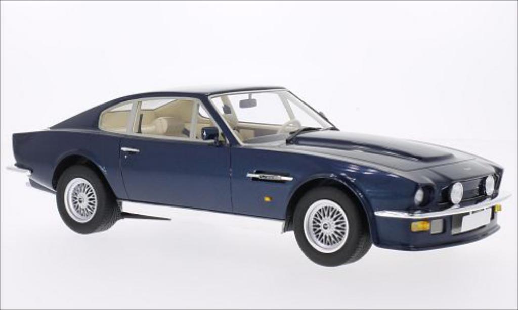 Aston Martin V8 Vantage 1/18 CMF metallic-bleu 1977 diecast