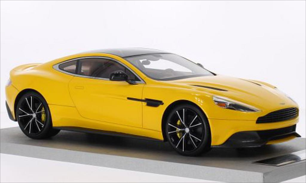 Aston Martin Vanquish 1/18 Tecnomodel Coupe metallise jaune/carbon miniature