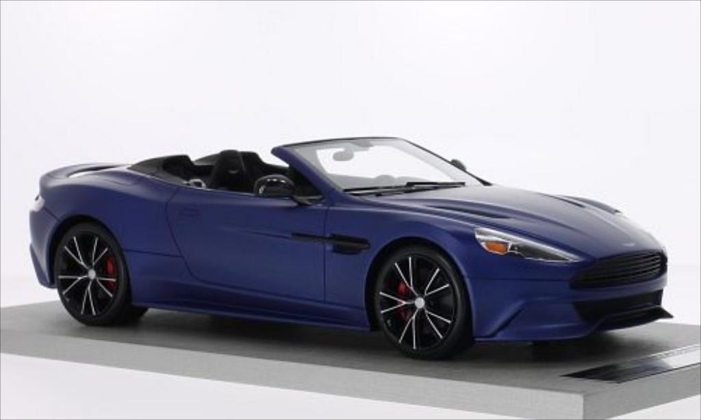 Aston Martin Vanquish 1/18 Tecnomodel Volante matt-bleu miniature
