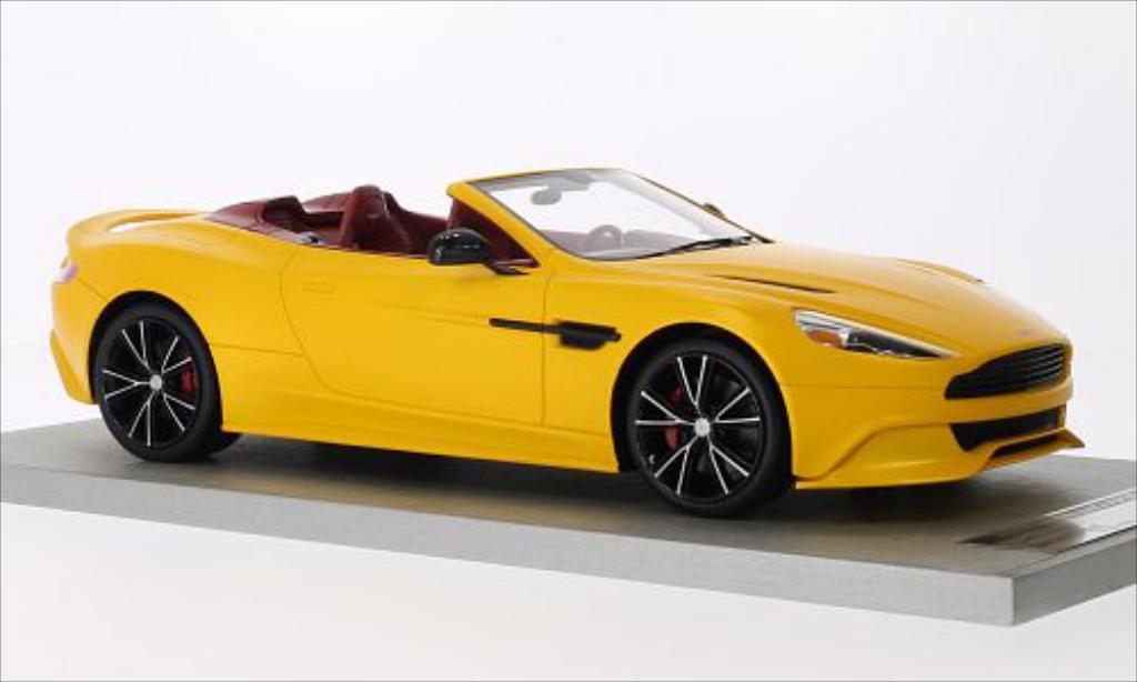 Aston Martin Vanquish 1/18 Tecnomodel Volante matt-jaune 2014 miniature