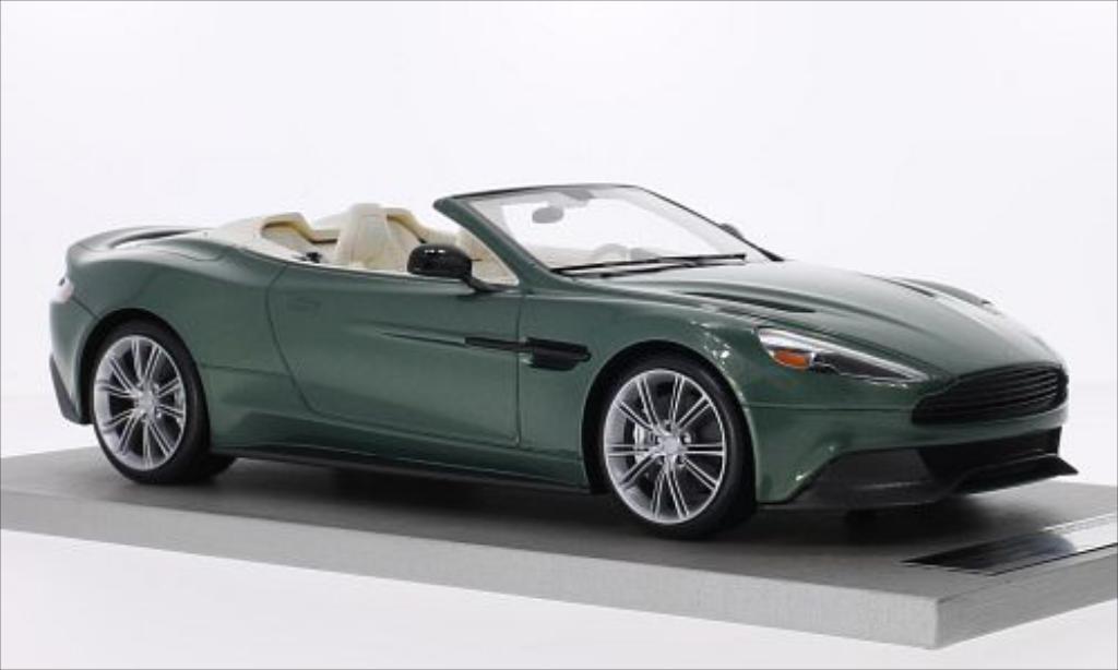 Aston Martin Vanquish 1/18 Tecnomodel Volante metallic-verte miniature