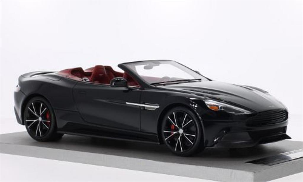 Aston Martin Vanquish 1/18 Tecnomodel Volante noire miniature