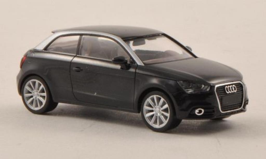 Audi A1 1/87 Herpa noire/grise miniature