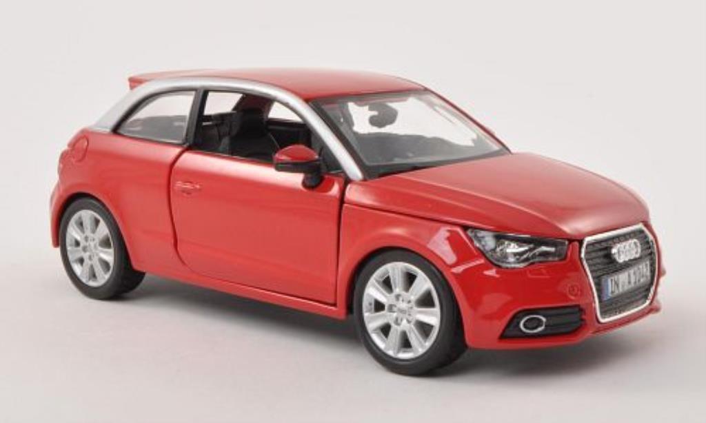 Audi A1 1/24 Burago rouge/grise miniature