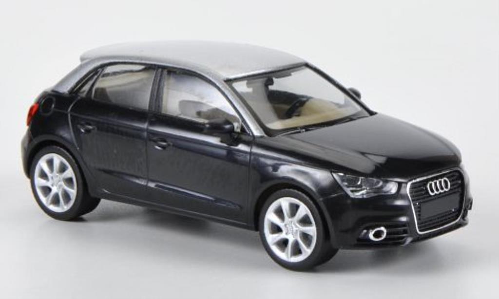 Audi A1 1/87 Herpa Sportback noire/grise miniature