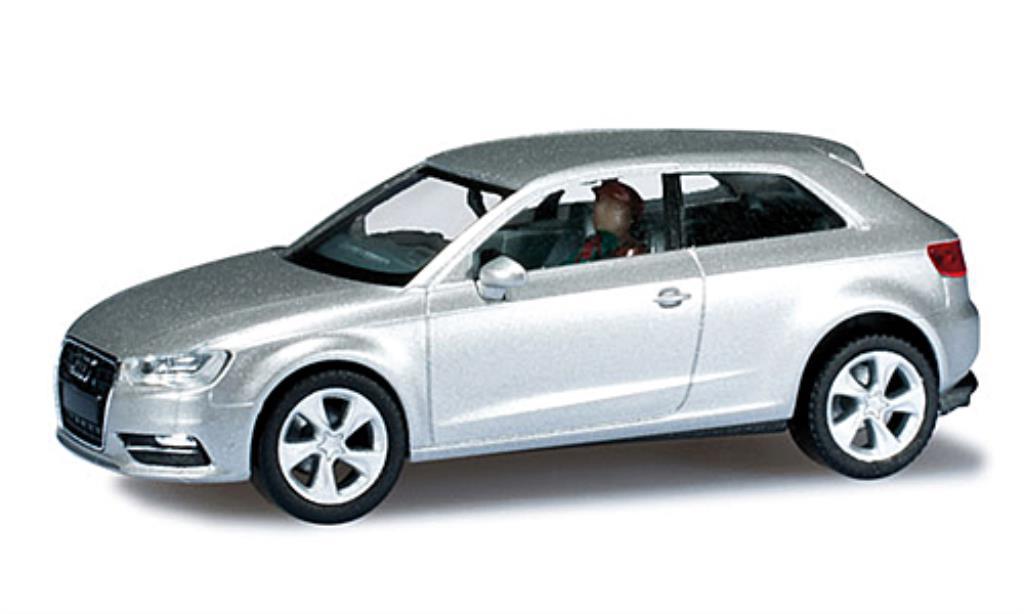 Audi A3 1/87 Herpa (8V) grise DioramaReady miniature