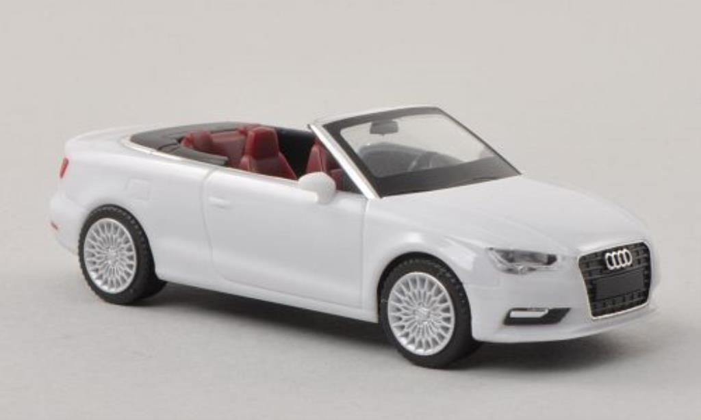 Audi A3 1/87 Herpa Cabrio bianca miniatura