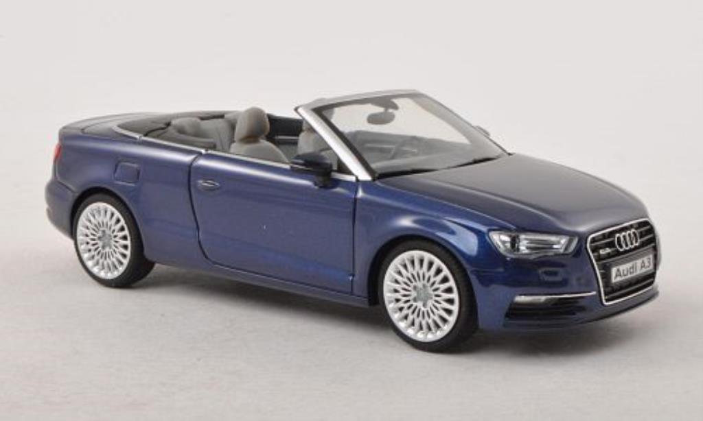 Audi A3 1/43 Herpa Cabriolet bleu miniature