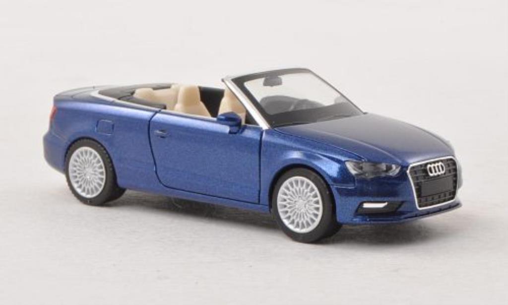 Audi A3 1/87 Herpa Cabriolet bleu miniature
