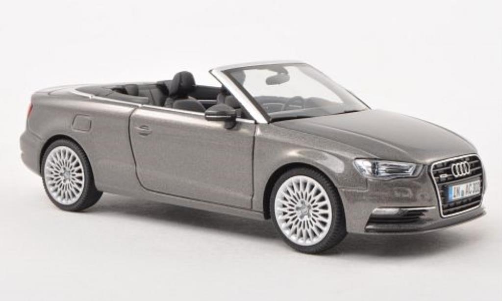 Audi A3 1/43 Herpa Cabriolet grise 2013 miniature