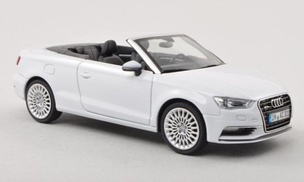 Audi A3 1/43 Herpa Cabriolet white 2013 diecast model cars