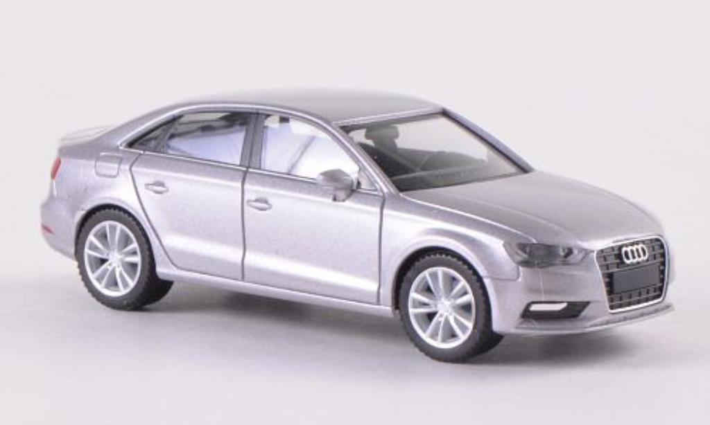 Audi A3 1/87 Herpa Limousine greygrey 2013 diecast model cars