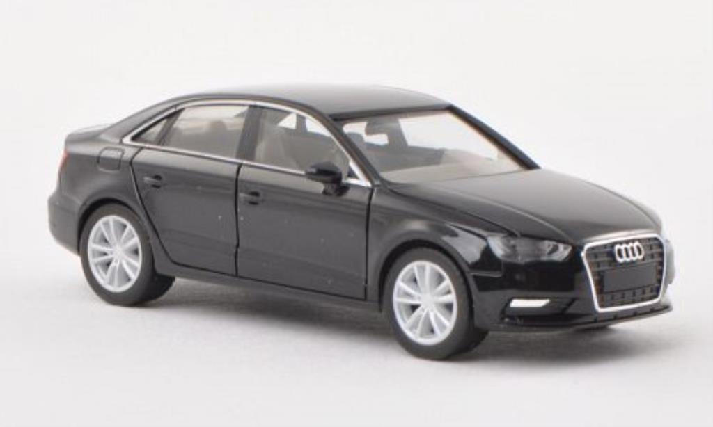 Audi A3 1/87 Herpa Limousine noire miniature