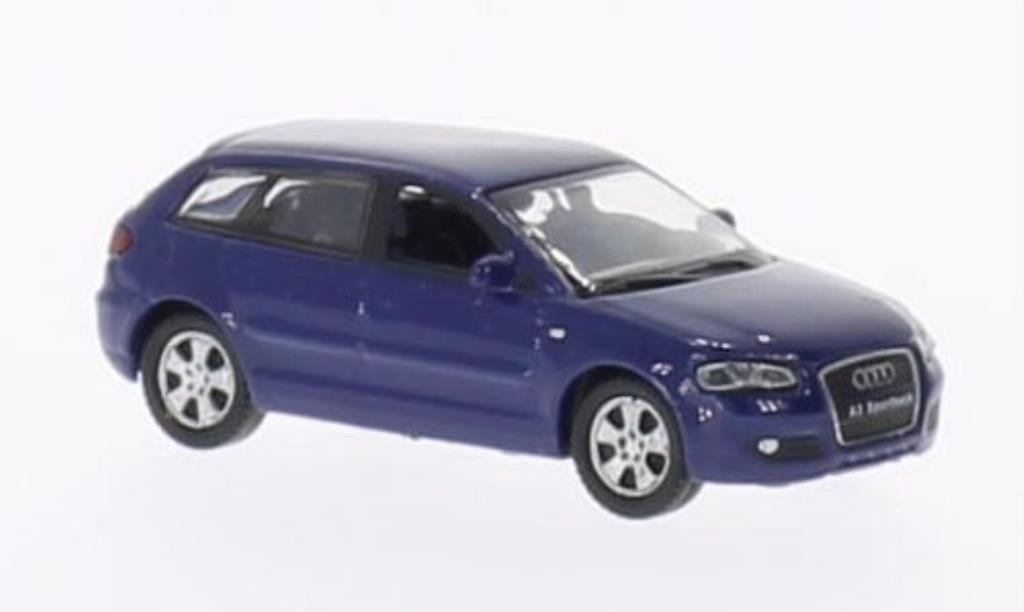 Audi A3 1/87 Welly Sportback bleu miniature