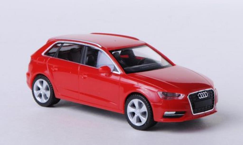 Audi A3 1/87 Herpa Sportback red diecast model cars