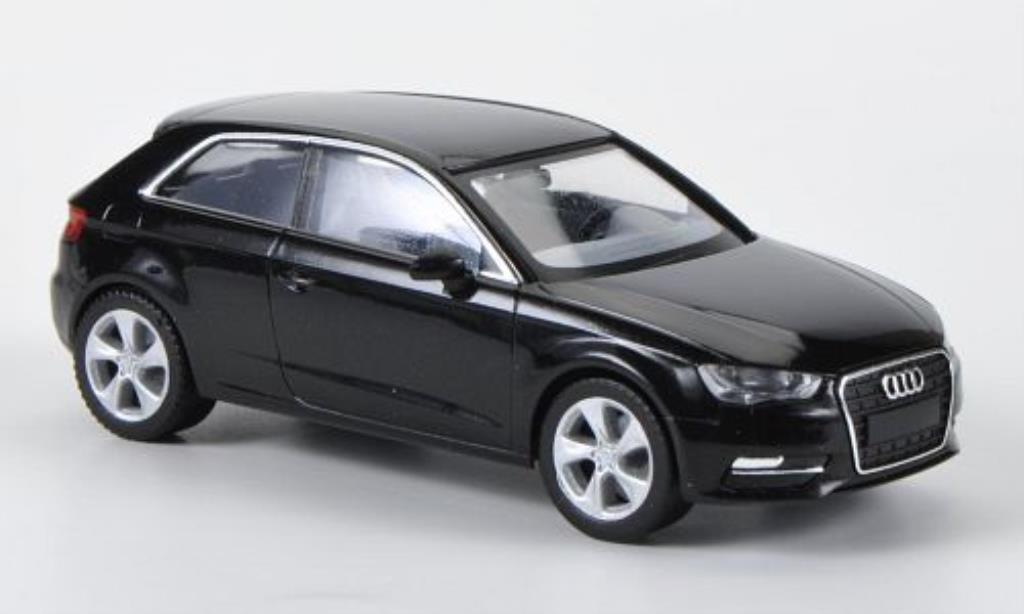 Audi A3 1/87 Herpa (Typ 8V) nero miniatura
