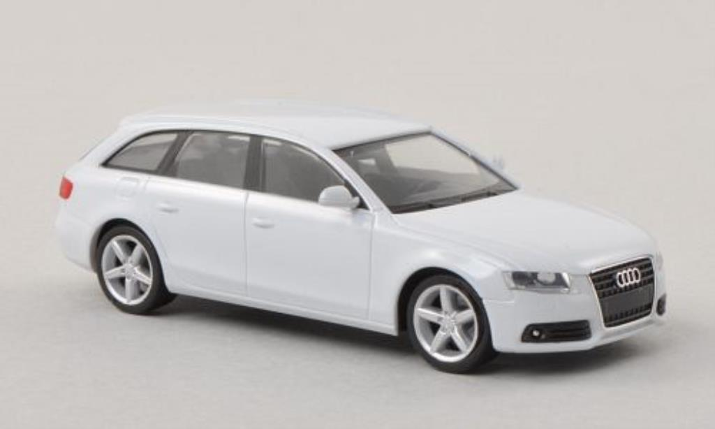 Audi A4 Avant 1/87 Herpa blanche miniature