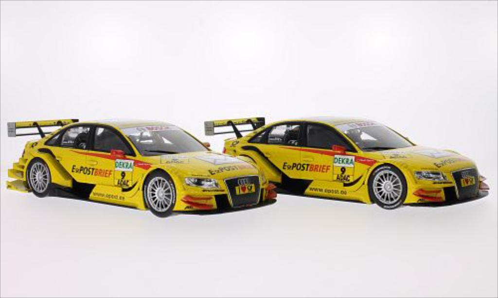 Audi A4 DTM 1/18 Norev jaune No.9 EPost Brief DTM 2011 miniature