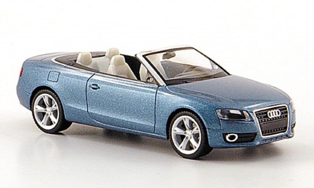 Audi A5 1/87 Herpa Cabriolet bleu 2009 miniature