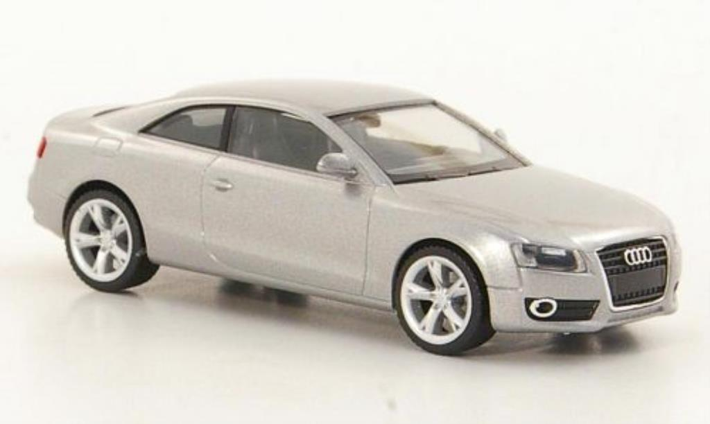 Audi A5 1/87 Herpa grise-grise miniature