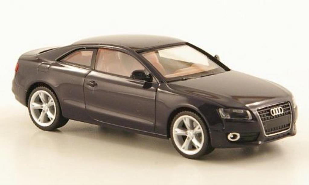 Audi A5 1/87 Herpa noire marrones Interieur miniature