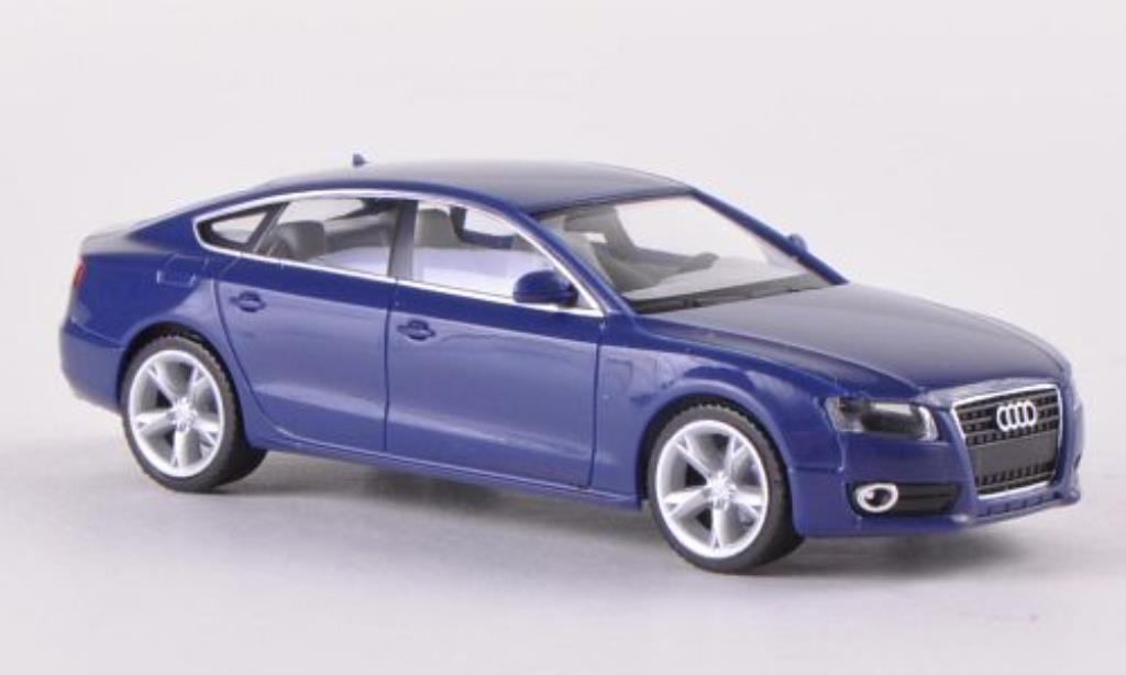 Audi A5 1/87 Herpa Sportback bleu miniature