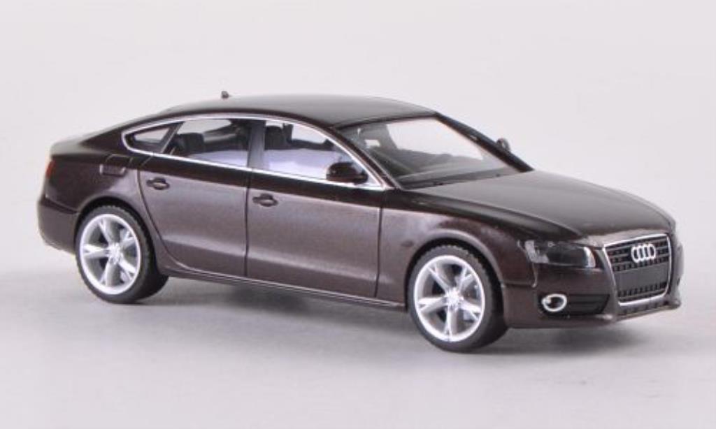 Audi A5 1/87 Herpa Sportback met-.marron miniature