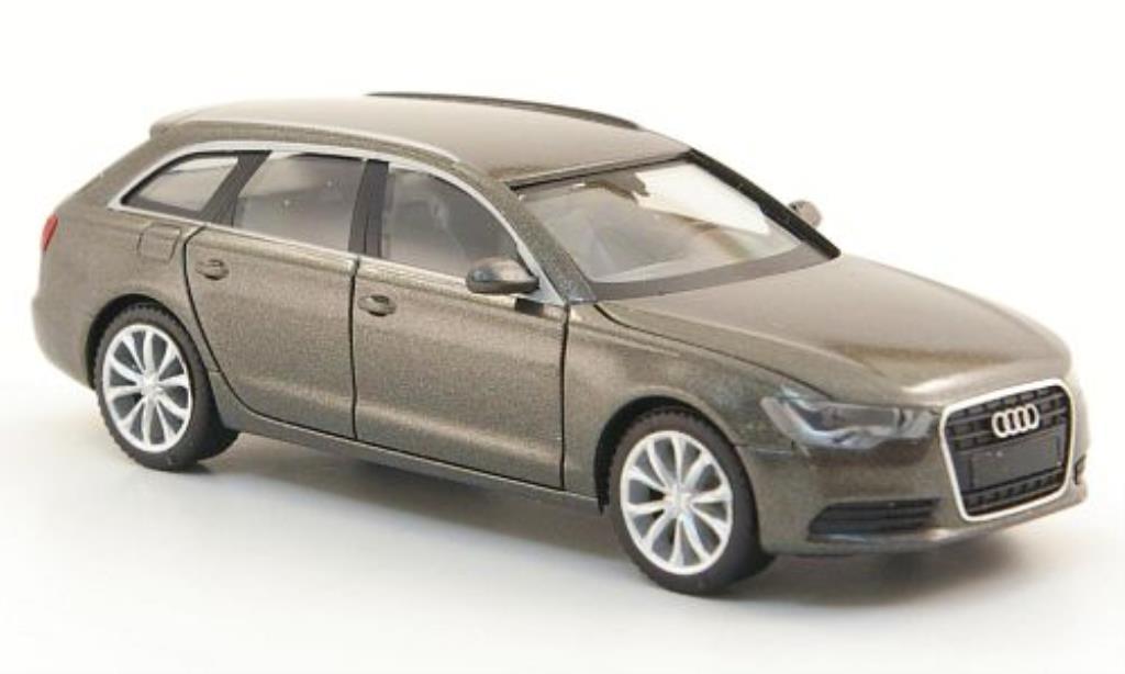 Audi A6 Avant 1/87 Herpa Avant (C7) grise 2011 miniature