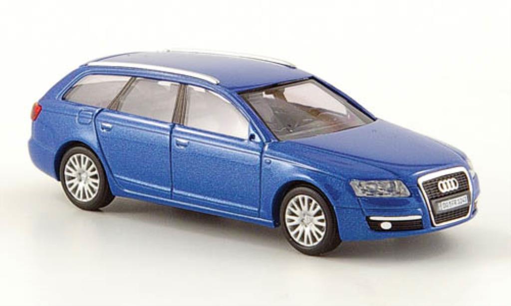 Audi A6 Avant 1/87 Busch bleu CMD 2004 miniature