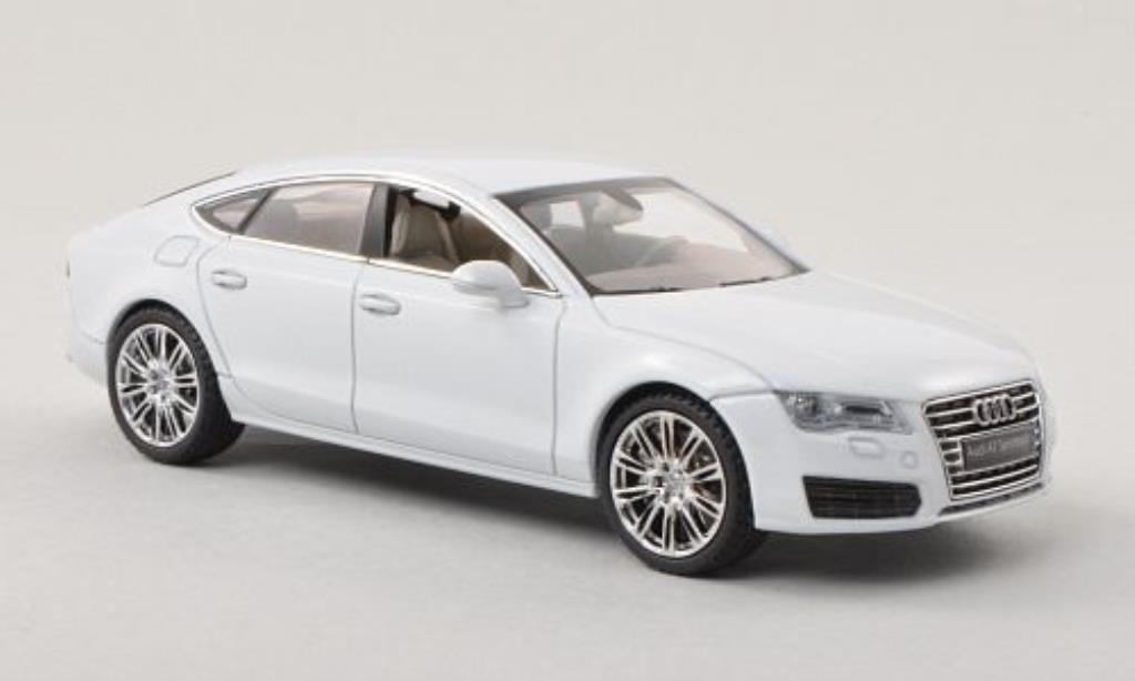 Audi A7 1/43 Kyosho Sportback blanche miniature