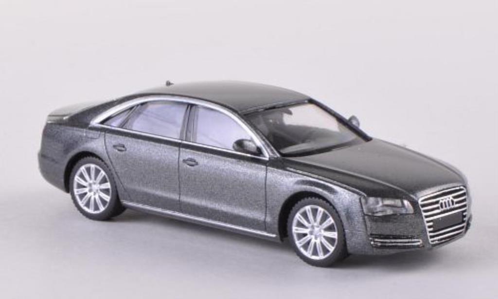 Audi A8 1/87 Herpa (D4) grigia 2012 miniatura