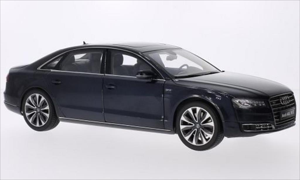 Audi A8 1/18 Kyosho L W12 metallic-bleu 2014 miniatura