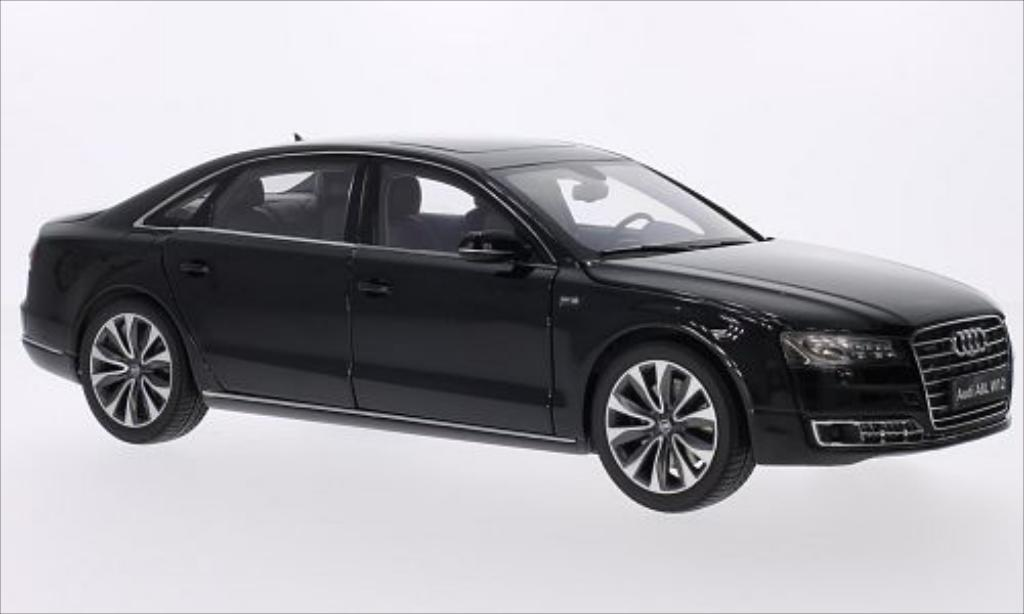 Audi A8 1/18 Kyosho L W12 metallic-nero 2014 miniatura