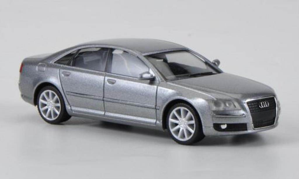 Audi A8 1/87 Herpa grise 2005 miniature