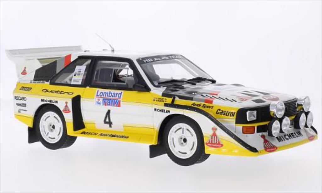 Audi Quattro 1/18 Ottomobile S1 No.4 HB Audi Team HB Rallye RAC Lombard 1985 miniature
