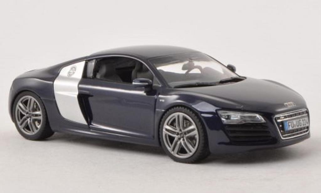 Audi R8 1/43 Schuco Coupe Facelift bleu miniature