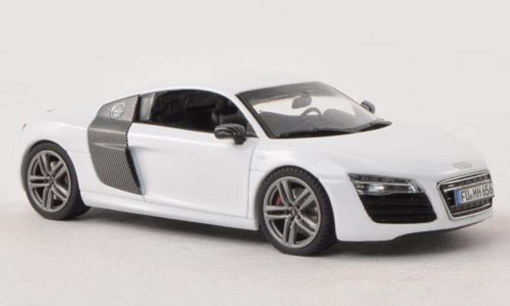 Audi R8 1/43 Schuco Coupe Facelift white diecast model cars