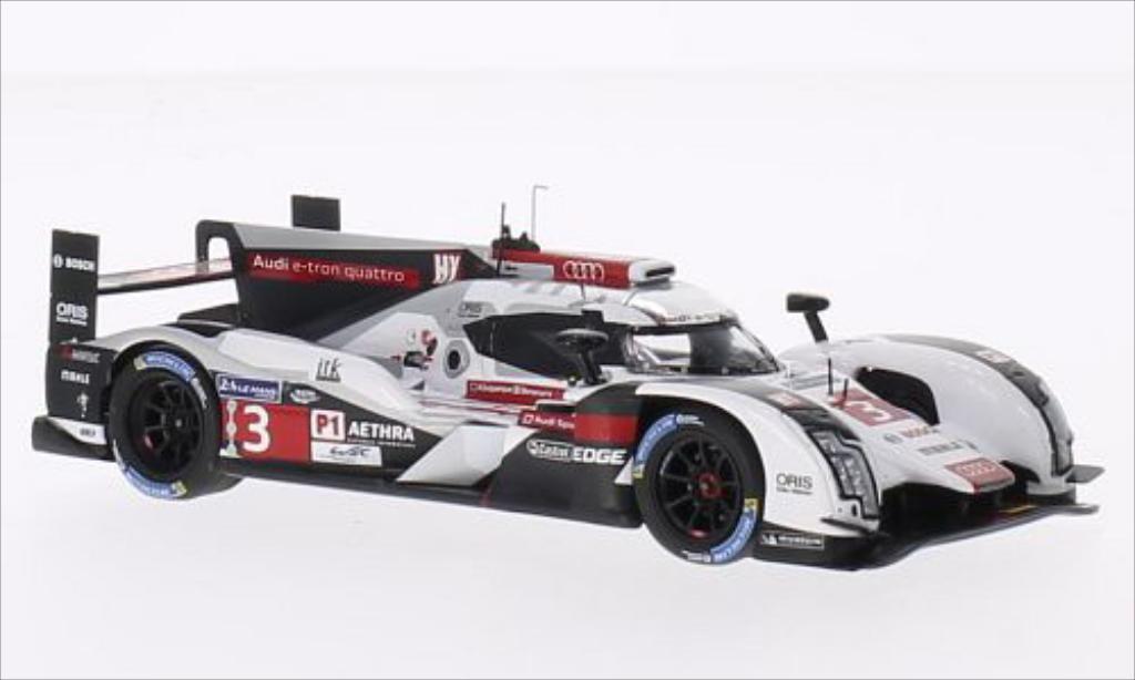 Audi R8 e-tron 1/43 Spark quattro No.3 Audi Sport Team Joest 24h Le Mans 2014 /O.Jarvis miniature