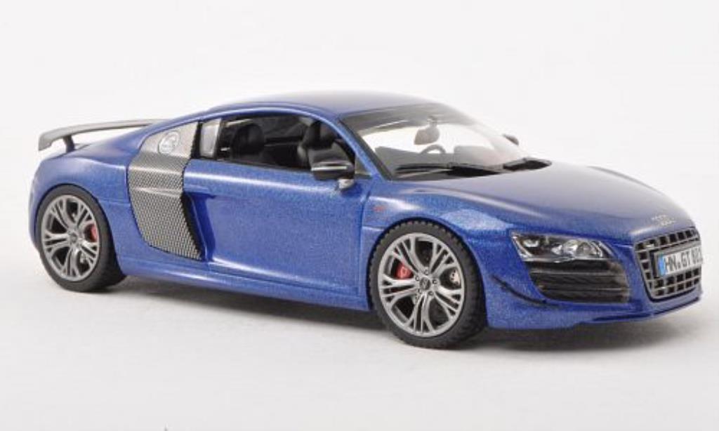 Audi R8 GT 1/43 Schuco bleu/carbon miniatura