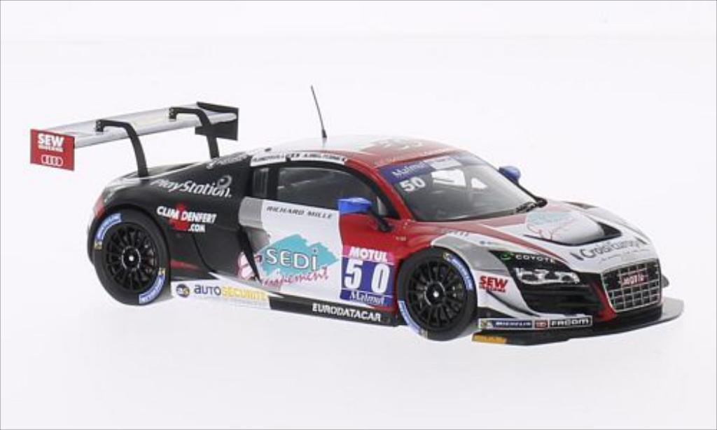 Audi R8 LMS 1/43 Spark Ultra Vainqueur C2 Ledenon GT Tour No.50 2014 /R.Beville miniature
