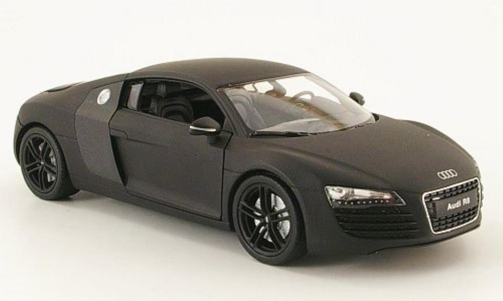 Audi R8 1/24 Welly matt-black diecast model cars