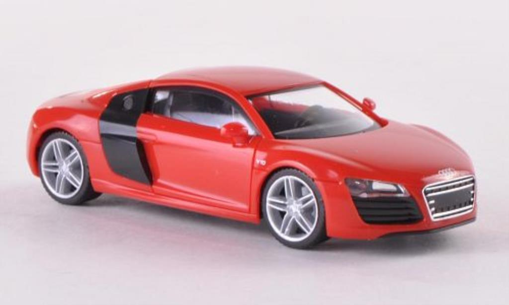 Audi R8 1/87 Herpa red/black Facelift diecast model cars