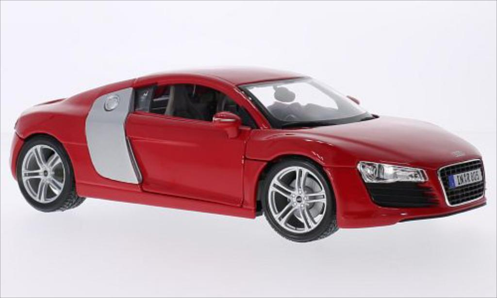 Audi R8 1/18 Maisto red/grey diecast model cars