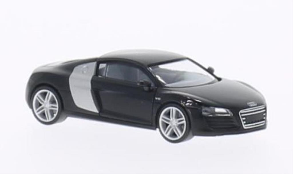 Audi R8 1/87 Herpa noire/grise-grise miniature